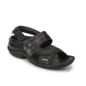 Redchief Men's Leather Sandals Rc-0247 Black
