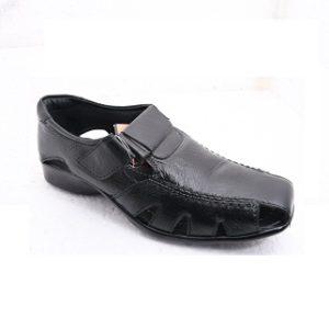 Bling Men'S Leather Sandals 04 Black