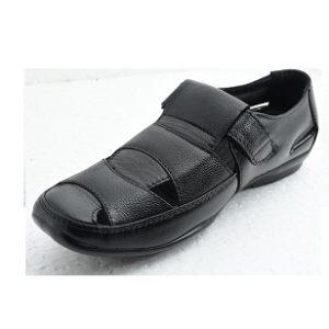 New Park Men'S Leather Sandals 829 Black
