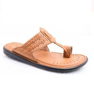 Datz Men'S Leather Type Siliper 501 Tan